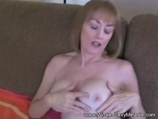 Cumslut Grandmother Fucks At Home