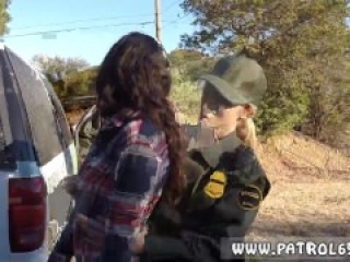 Police bitch Amateur Threesome for Border Slut