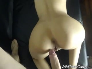 Beautiful Teen enjoys a huge cock