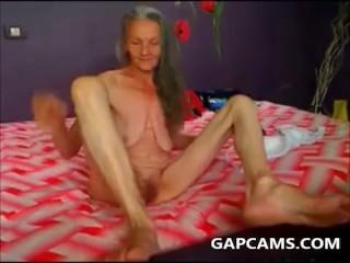 skinny amateur Granny Masturbation