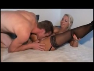 German Granny and young Stud boy ANAL