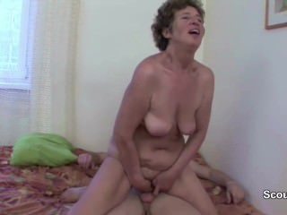 Granny Seduce Young Boy to Fuck her in Ass